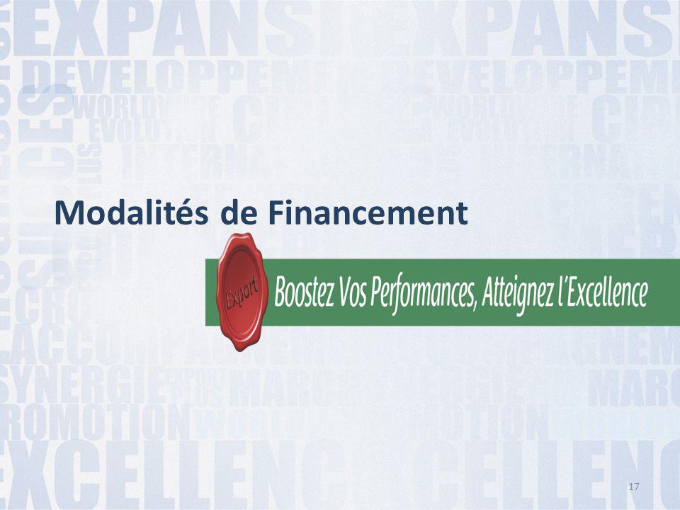 Modalités de Financement 17