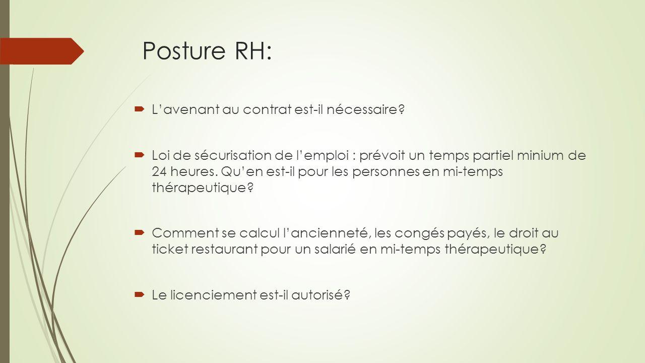 Posture RH:  L'avenant au contrat est-il nécessaire.