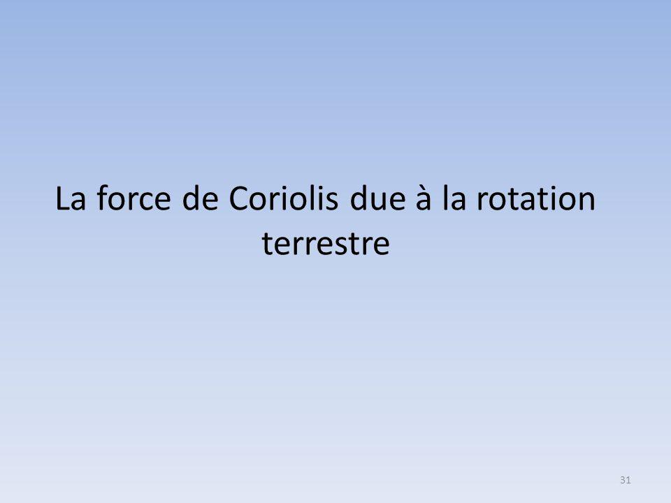 30 Y' C O X' Z'  Par rapport au référentiel géocentrique (C,XYZ), le référentiel local (O,X'Y'Z'), en rotation avec la Terre, n'est pas galiléen Cepe
