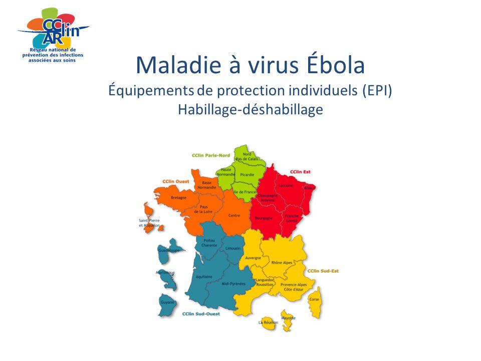 19 décembre 20142 Maladie à virus Ébola Équipements de protection individuels (EPI) Habillage-déshabillage 2 Attention : les recommandations contenues dans ce document sont susceptibles d'être modifiées à tout moment en fonction des données scientifiques et de la publication de nouveaux avis du HCSP - pensez à consulter régulièrement le site du ministère et le site CClin Arlin