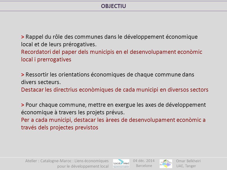 > Rappel du rôle des communes dans le développement économique local et de leurs prérogatives.