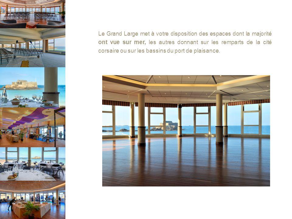 Le Grand Large met à votre disposition des espaces dont la majorité ont vue sur mer, les autres donnant sur les remparts de la cité corsaire ou sur les bassins du port de plaisance.