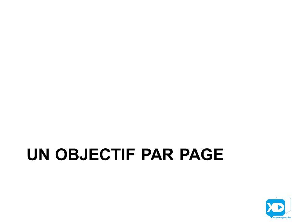 UN OBJECTIF PAR PAGE