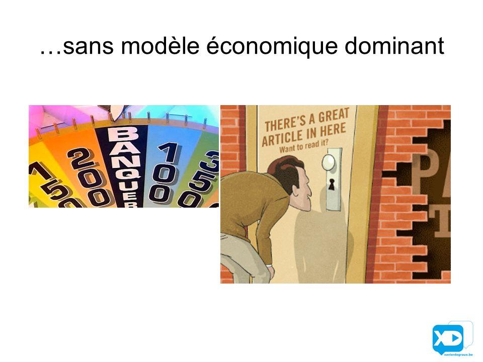 …sans modèle économique dominant