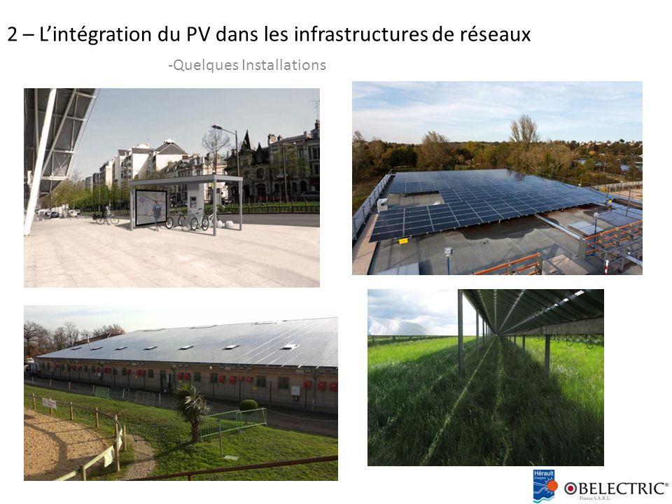 2 – L'intégration du PV dans les infrastructures de réseaux -Quelques Installations