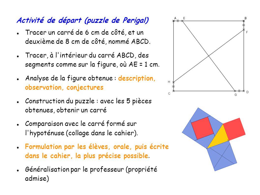 Tracer un carré de 6 cm de côté, et un deuxième de 8 cm de côté, nommé ABCD.