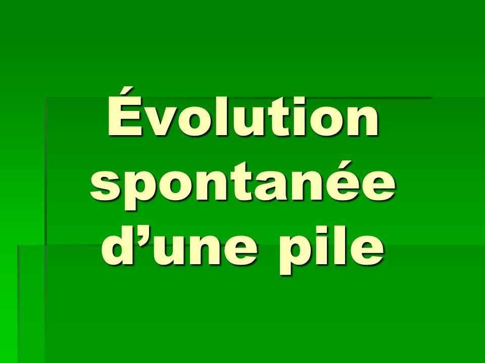 Évolution spontanée d'une pile