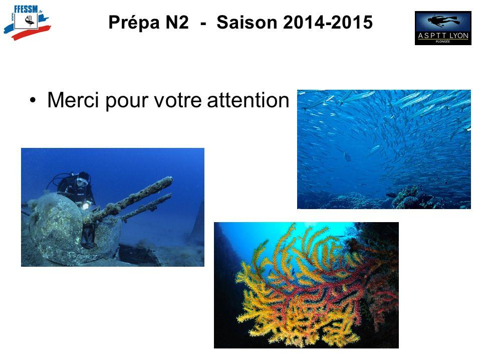 Prépa N2 - Saison 2014-2015 Merci pour votre attention