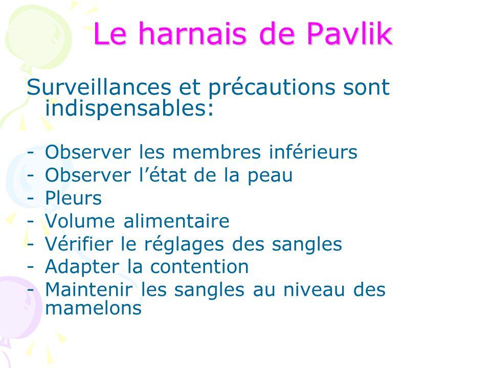 Surveillances et précautions sont indispensables: -Observer les membres inférieurs -Observer l'état de la peau -Pleurs -Volume alimentaire -Vérifier l
