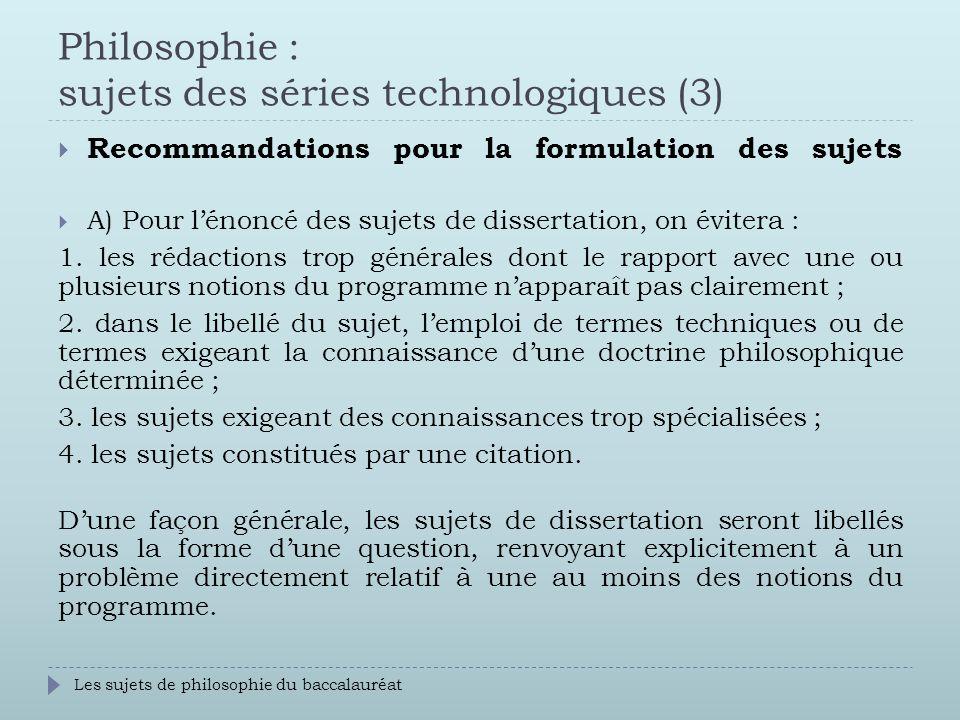 Dissertation philosophique technique