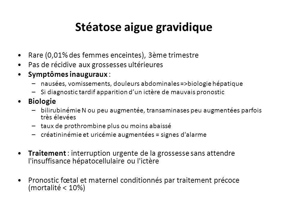 Hépatite alcoolique CLINIQUE –Forme asymptomatique (la plus fréquente) avec risque d'évolution à bas bruit vers la cirrhose –Parfois: Hépatomégalie (gros foie) sensible Fébricule, anorexie, amaigrissement Ictère Insuffisance Hépato-Cellulaire (IHC) : encéphalopathie