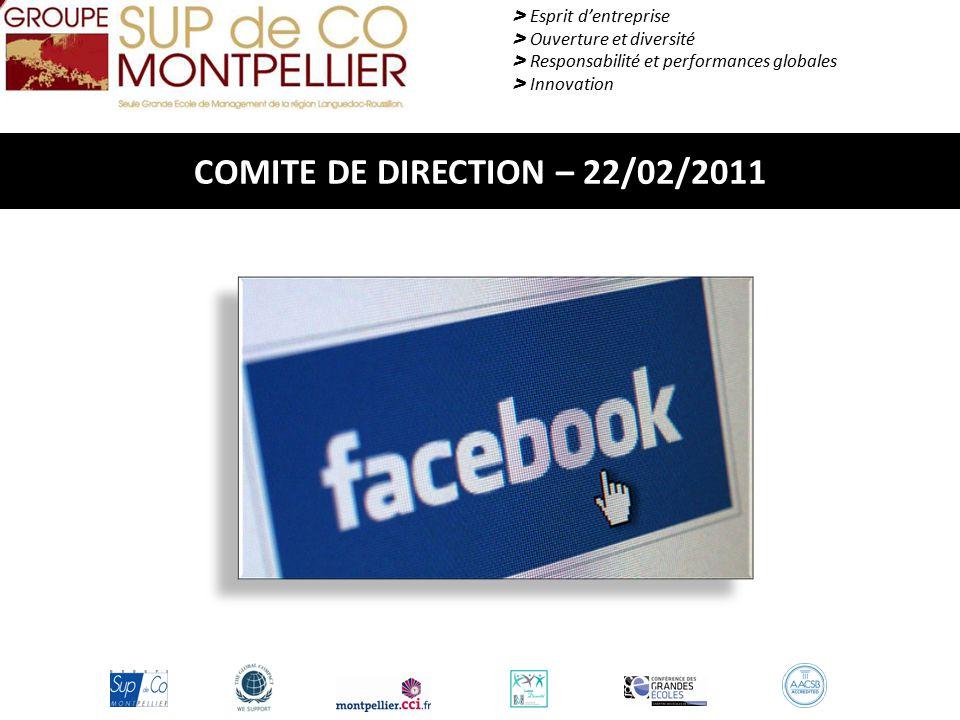 COMITE DE DIRECTION – 22/02/2011 > Esprit d'entreprise > Ouverture et diversité > Responsabilité et performances globales > Innovation