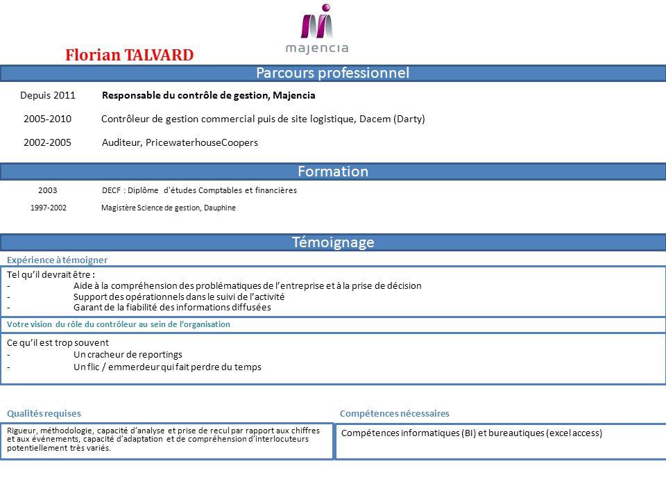 """Pr�sentation """"Parcours professionnel Formation T�moignage ..."""