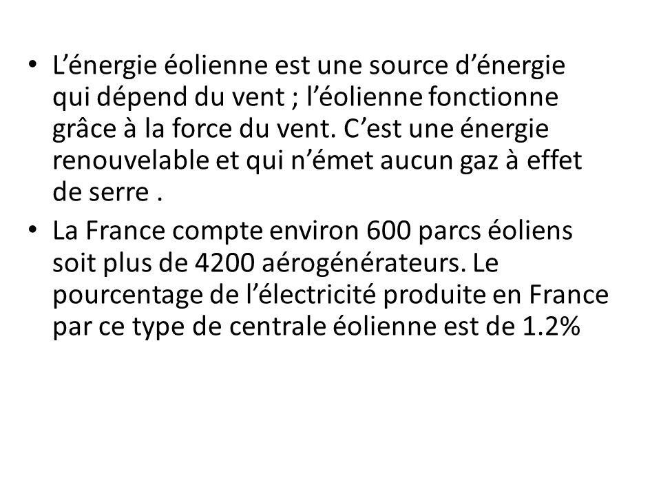 Les sources d'énergies utilisées sont issues de combustibles fossiles ( charbon, gaz, pétrole ) L'énergie thermique est non renouvelable.