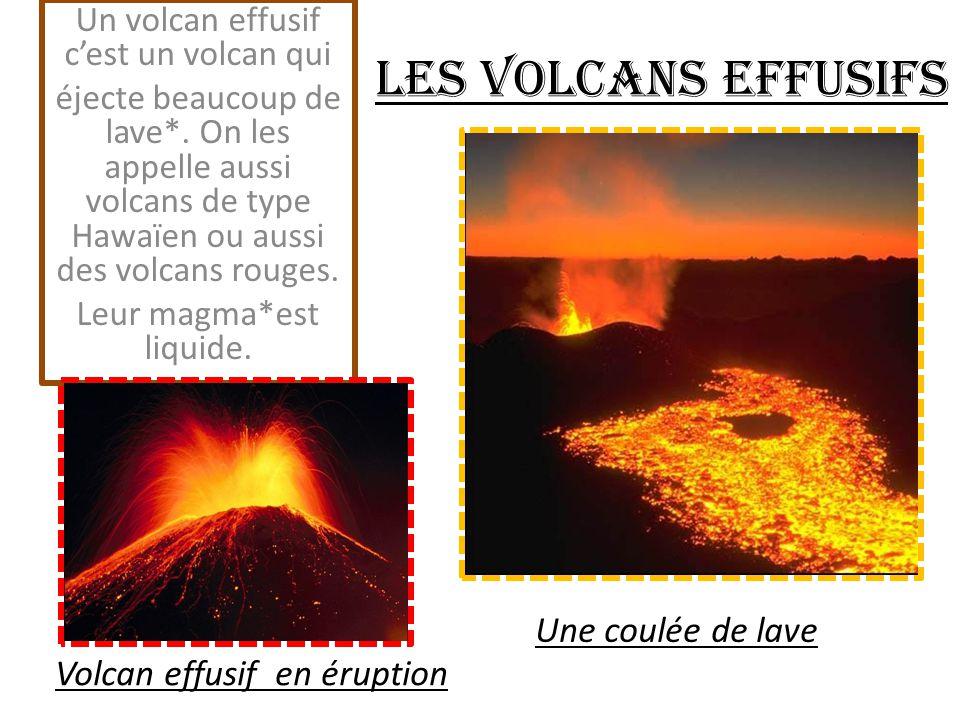 Les volcans sous-marins Quand la lave s'échappe d'un volcan sous-marin, elle refroidit très vite au contact de l'eau et forme des pollow lavas*.