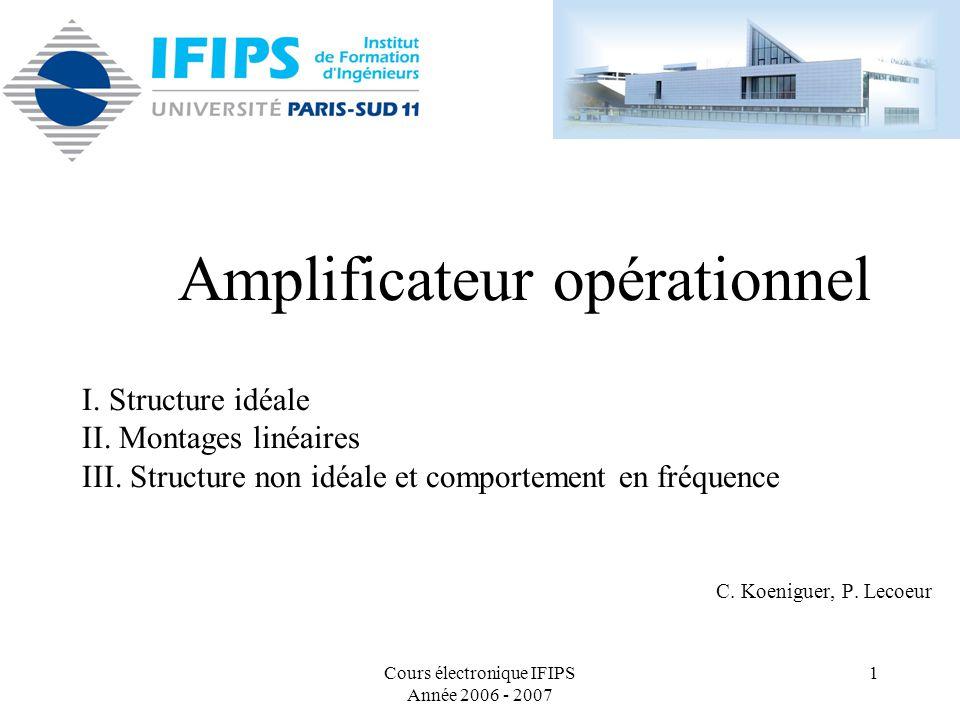 Amplificateur opérationnel cours ppt