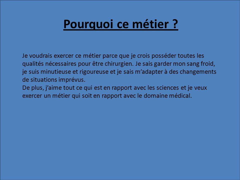 """Pr�sentation """"Chirurgien. SOMMAIRE 1.Nature du m�tier 2. Le ..."""