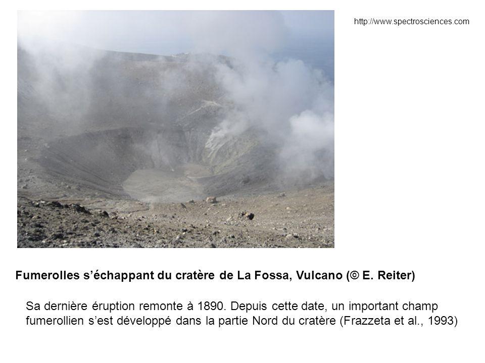 Evolution de la température d'une fumerolle de Vulcano entre février 1995 et décembre 1996 (Reiter et al., 2005)