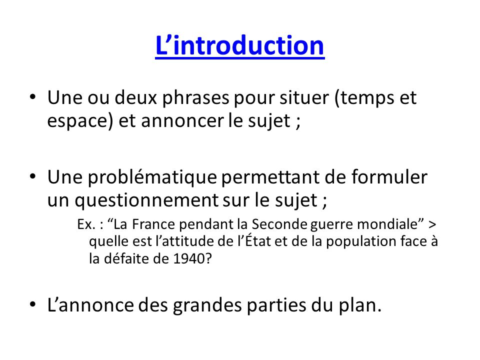 Dissertation Histoire Exemple