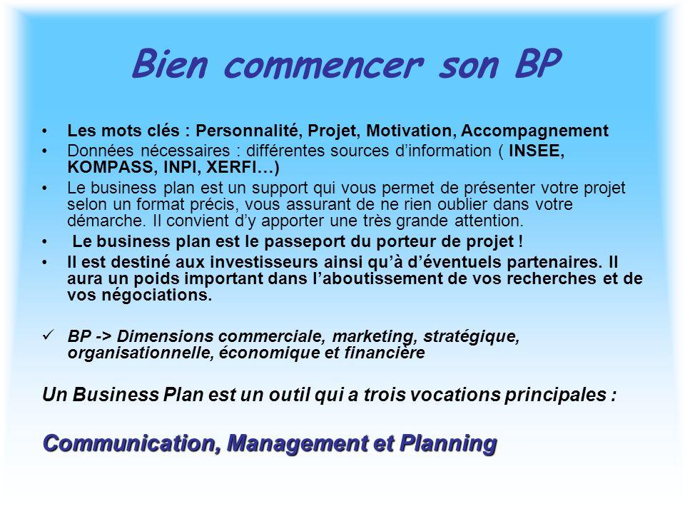 Bien commencer son BP Les mots clés : Personnalité, Projet, Motivation, Accompagnement Données nécessaires : différentes sources d'information ( INSEE