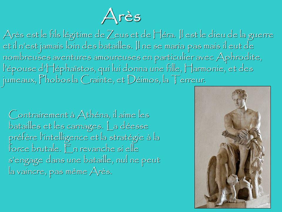 Arès Arès est le fils légitime de Zeus et de Héra.