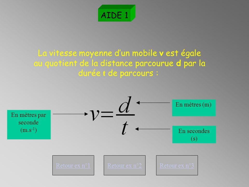 Revoir la chronophotographie Exercice 3 Exploitation de la chronophotographie n°3 AIDE 1 Recopie dans le tableur les distances AB, AC, AD, AE, AF en t'aidant de l'échelle portée sur le schéma précédent.