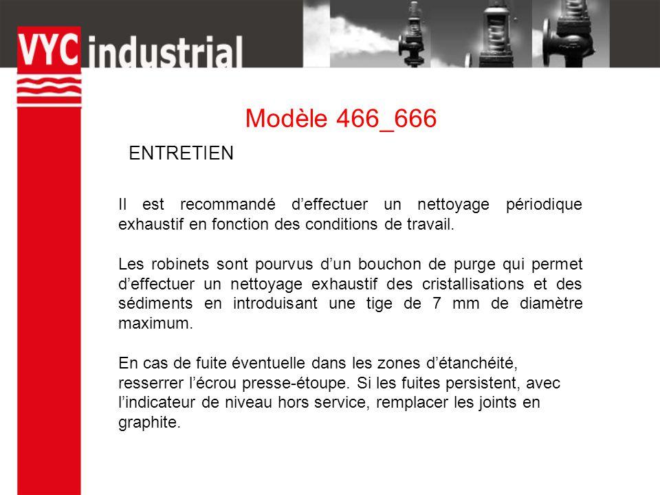 Modèle 466_666 Il est recommandé d'effectuer un nettoyage périodique exhaustif en fonction des conditions de travail.
