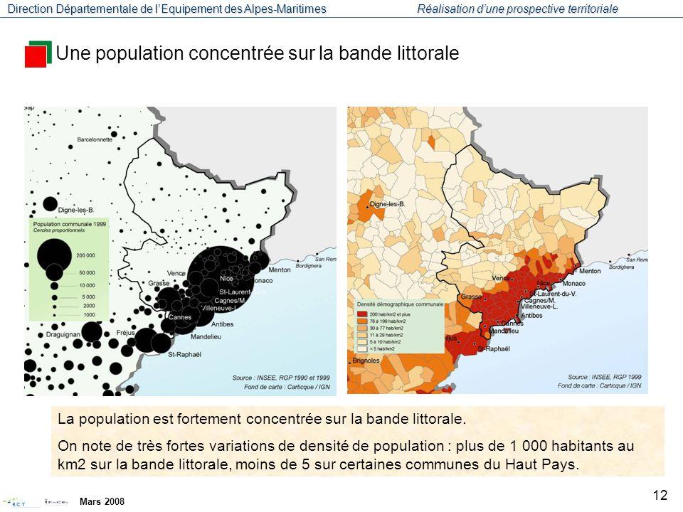 Direction Départementale de l'Equipement des Alpes-Maritimes Réalisation d'une prospective territoriale Mars 2008 13 Source : SDEC Alpes Maritimes Un dynamisme démographique dû au solde migratoire