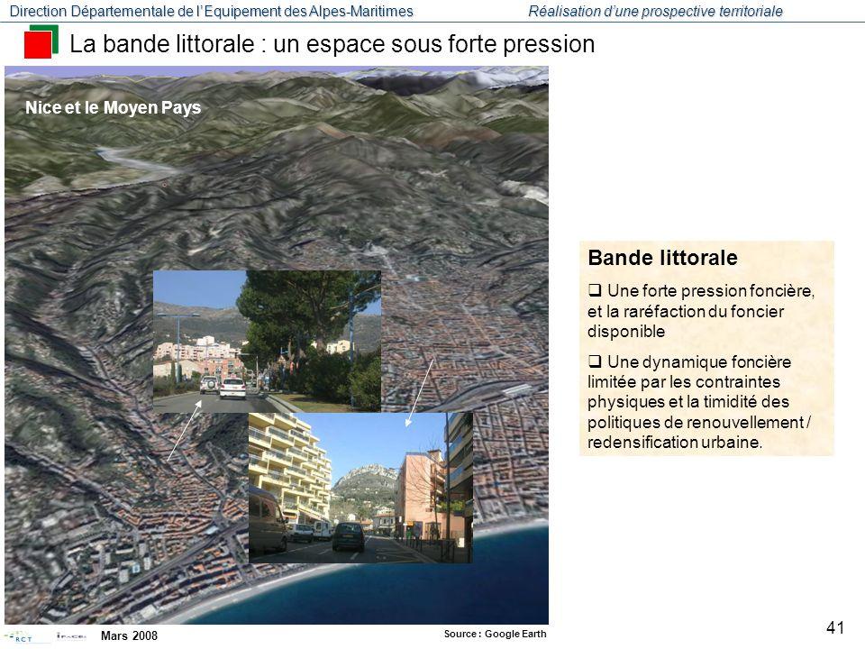 Direction Départementale de l'Equipement des Alpes-Maritimes Réalisation d'une prospective territoriale Mars 2008 42 Coteaux : espaces convoités pour l'habitat dans un rayon de ¾ h des pôles d'emploi.