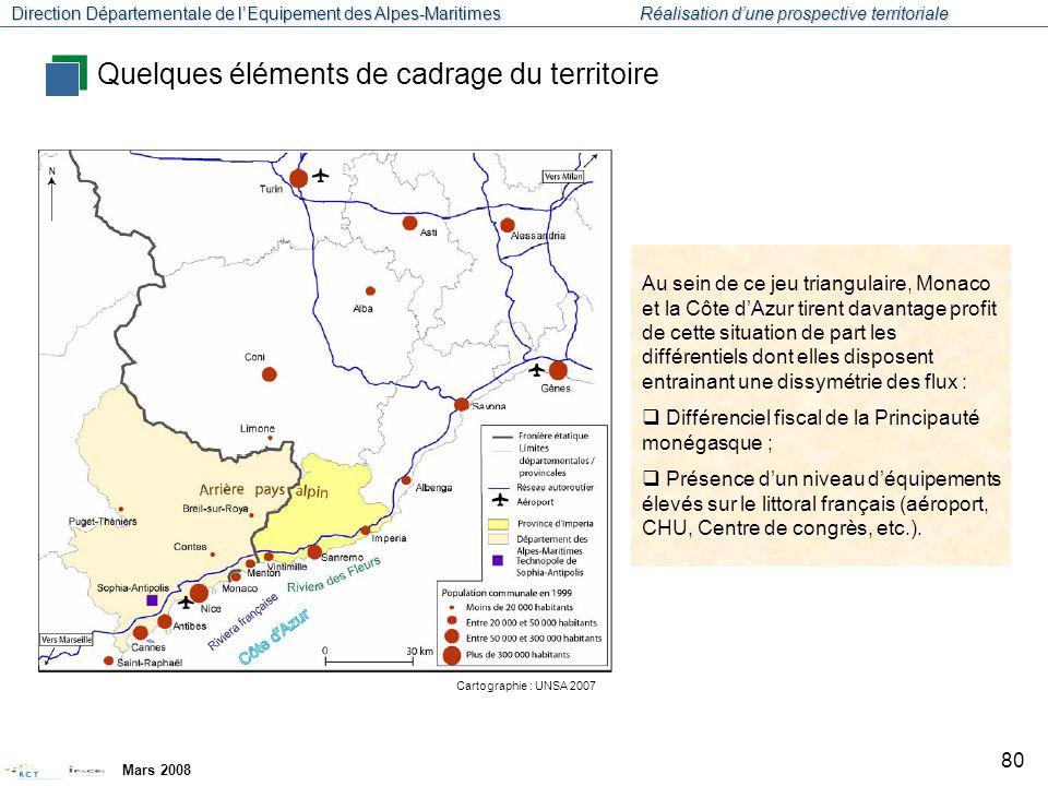 Direction Départementale de l'Equipement des Alpes-Maritimes Réalisation d'une prospective territoriale Mars 2008 81 Diagnostic de l'économie azuréenne Annexes