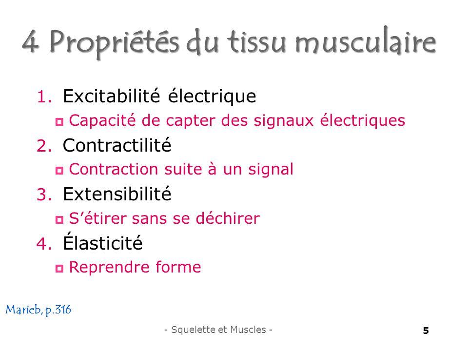 4 Propriétés du tissu musculaire 5 1.