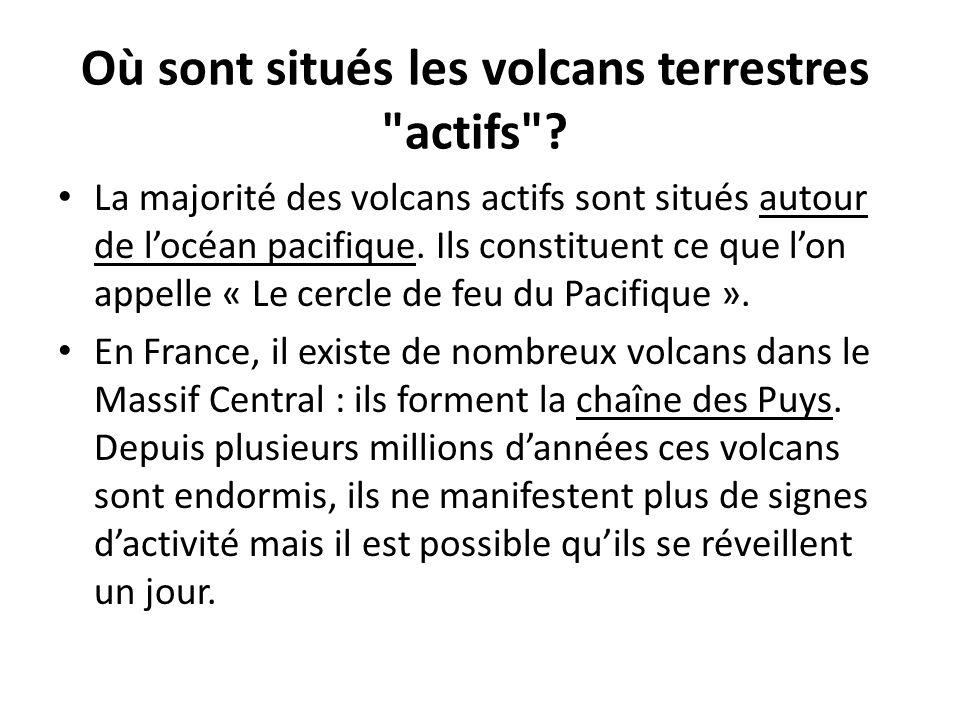 Où sont situés les volcans terrestres