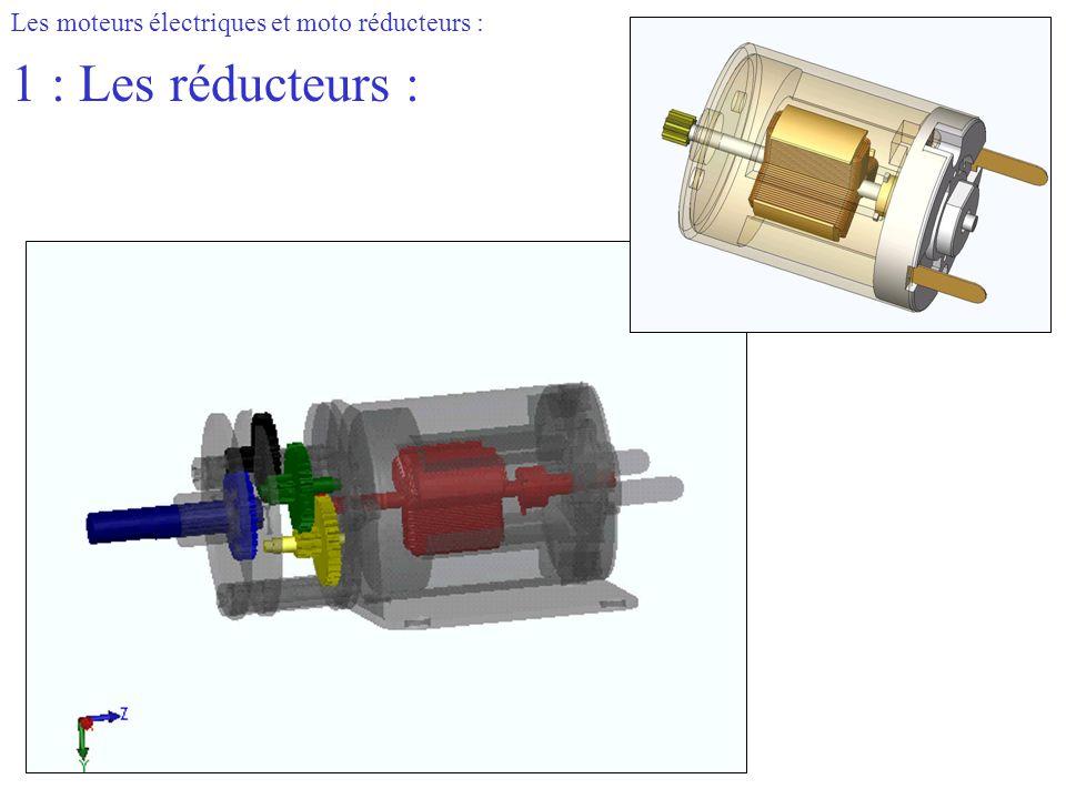 Les moteurs électriques et moto réducteurs : 1 : Les réducteurs :