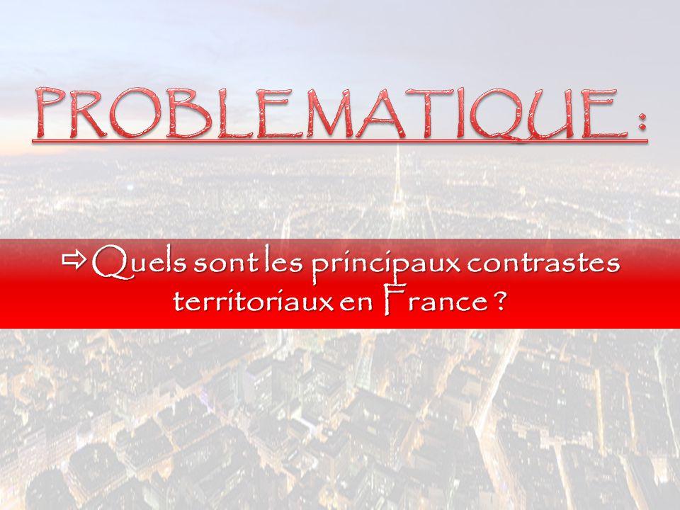 Quels sont les principaux contrastes territoriaux en France ?