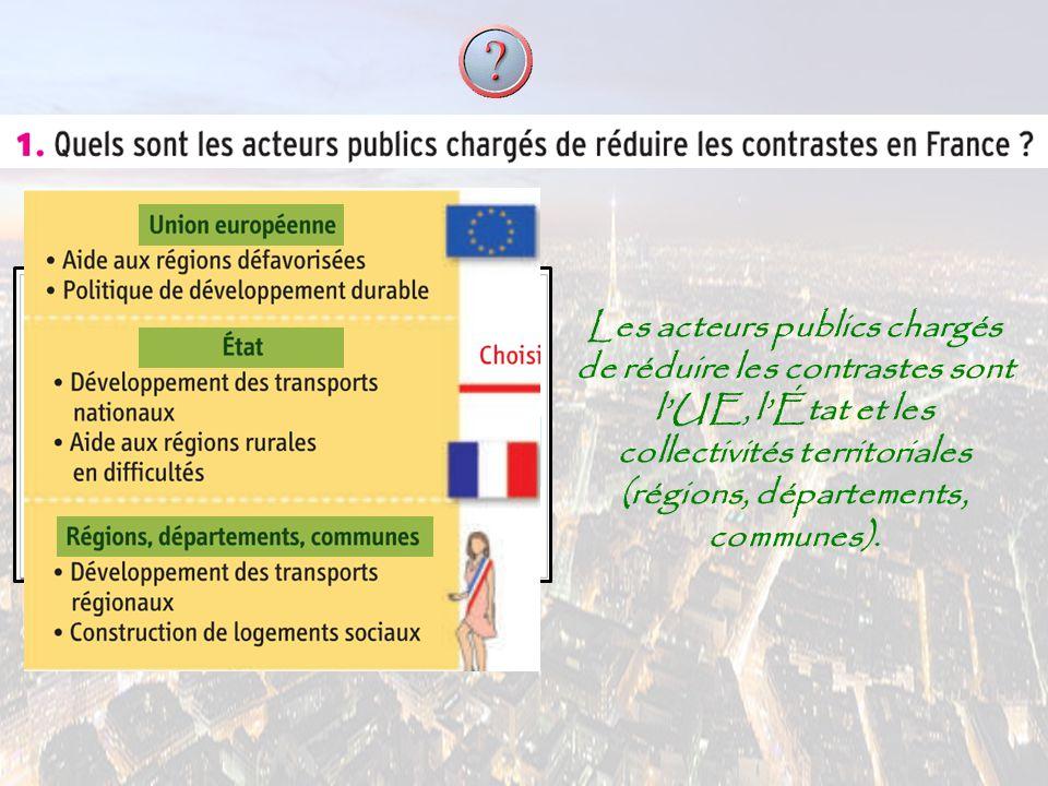 Ces acteurs cherchent à favoriser l'accès aux espaces (français et européens) grâce aux i ii infrastructures de transport.