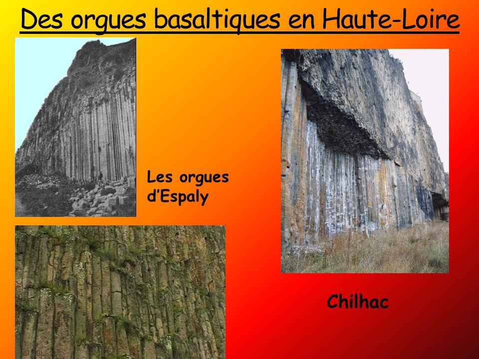 Des orgues basaltiques en Haute-Loire Les orgues d'Espaly Chilhac