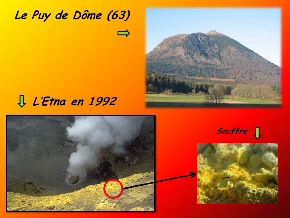 L'Etna en 1992 Souffre Le Puy de Dôme (63)