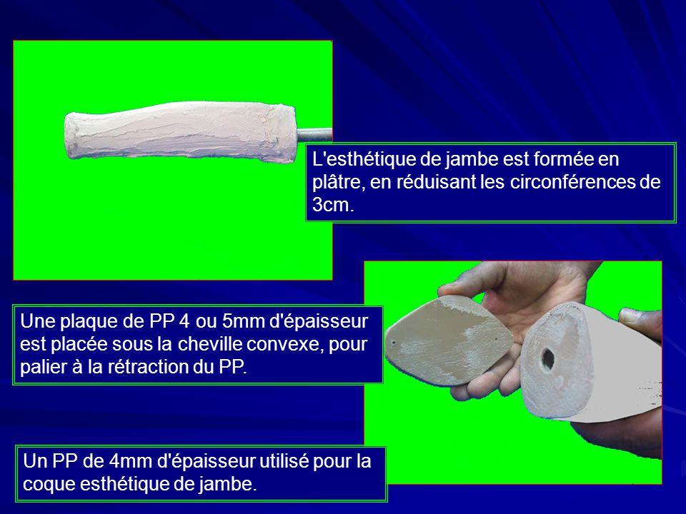 Finition de l esthétique de jambe Enlever le genou modifié et remettre la prothèse dans la coque esthétique