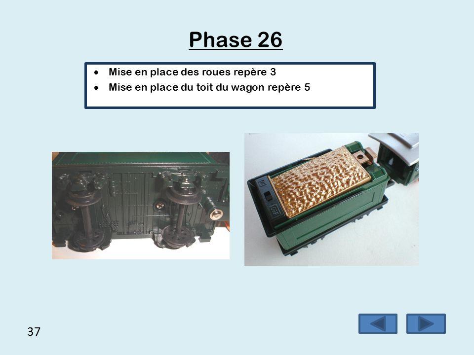 36 Phase 25 Visser l'attache locomotive-wagon avec 2 vis rondelles …,