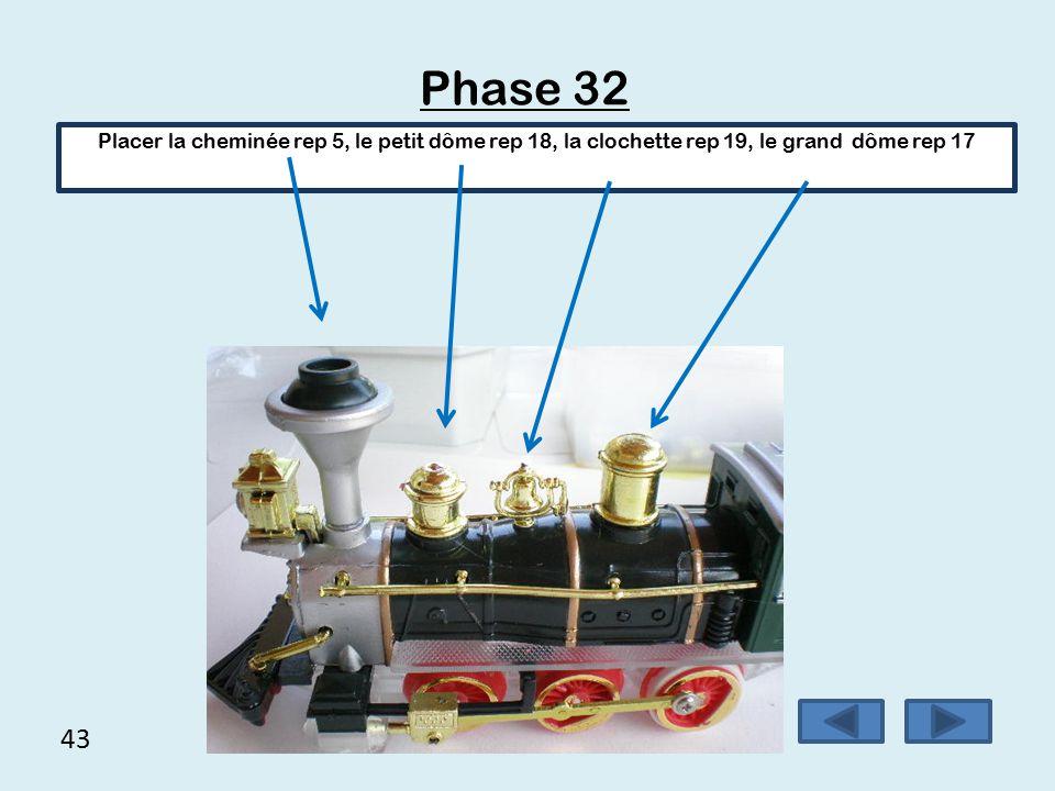 42 Phase 31 Placer les renforts avant repère 20 Il peut être nécessaire d'ébavurer une extrémité des renforts pour faciliter l'assemblage.