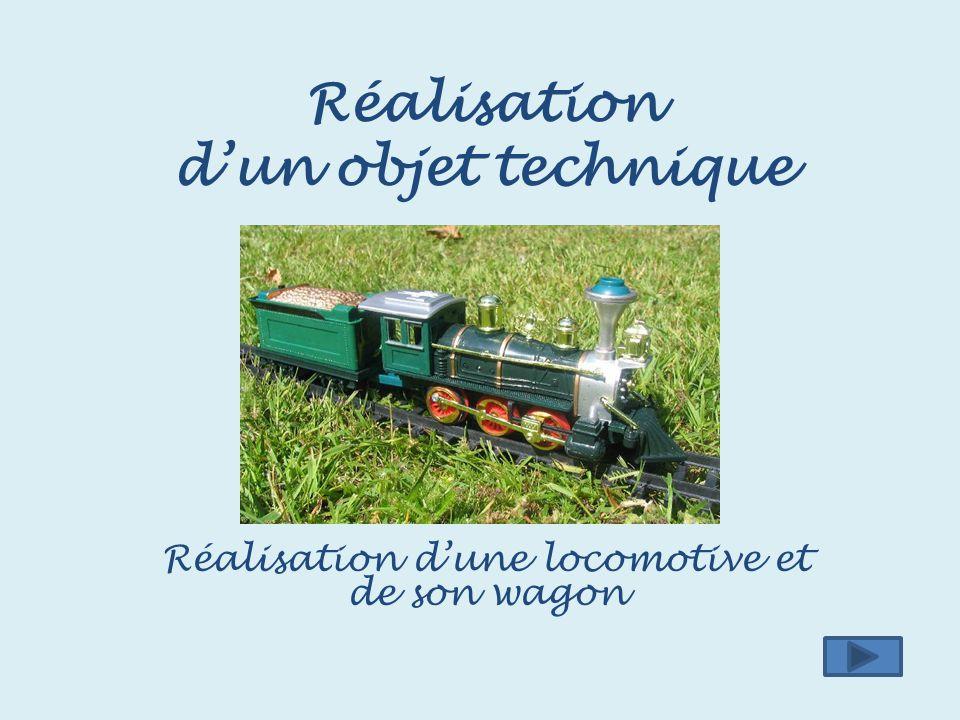 Réalisation d'un objet technique Réalisation d'une locomotive et de son wagon