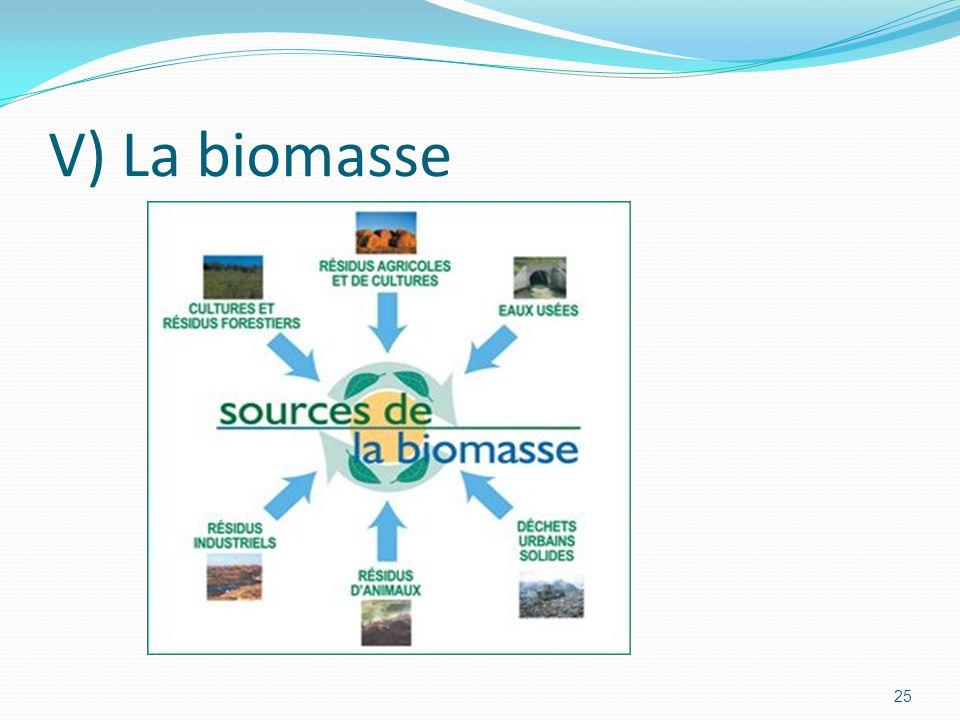25 V) La biomasse