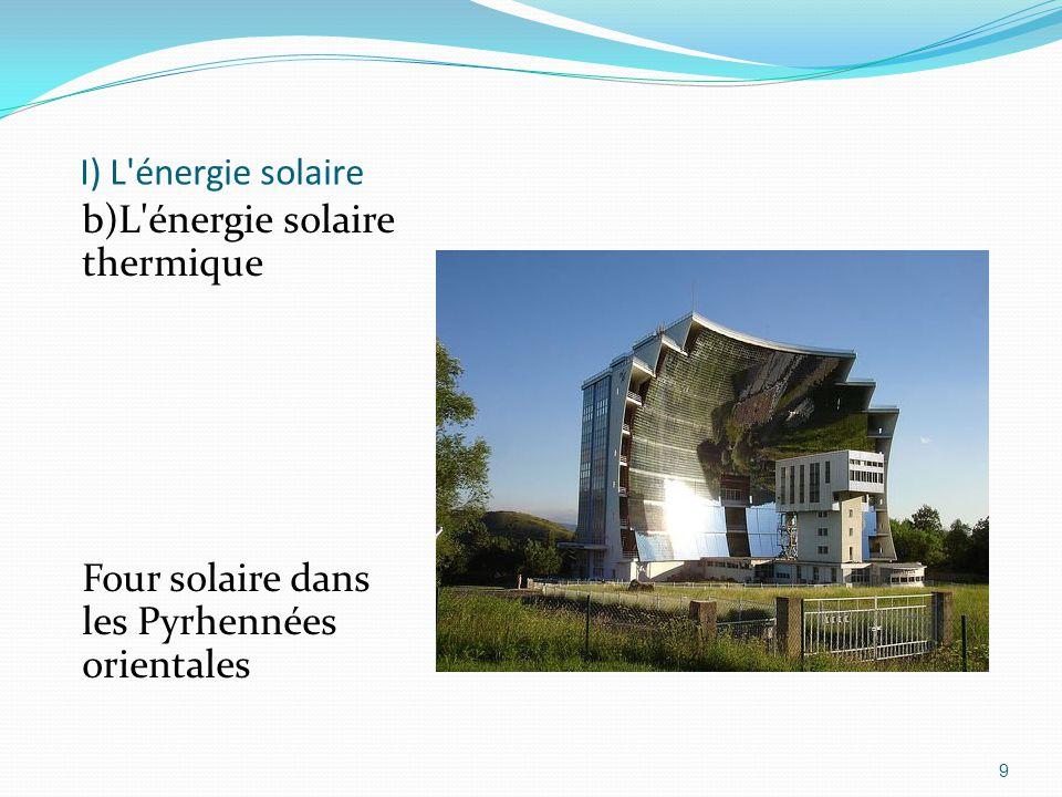 9 I) L'énergie solaire b)L'énergie solaire thermique Four solaire dans les Pyrhennées orientales