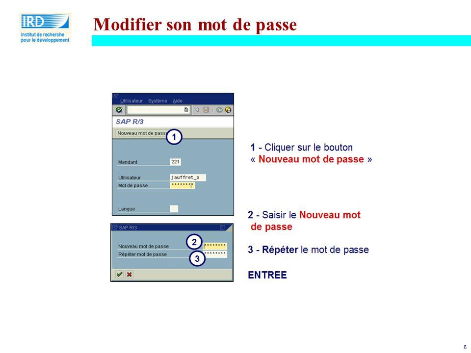 5 Modifier son mot de passe