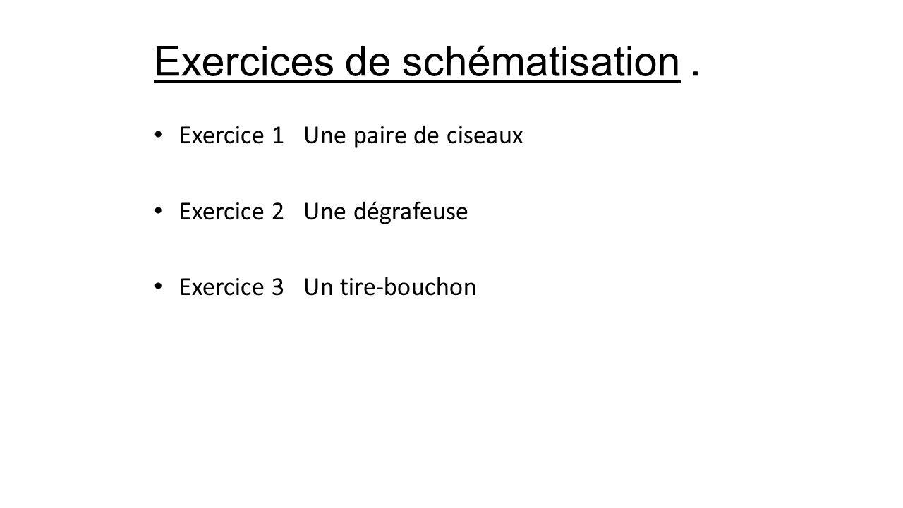 Exercices de schématisation.