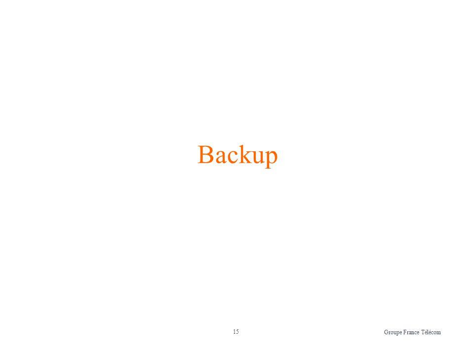 15 Groupe France Télécom Backup