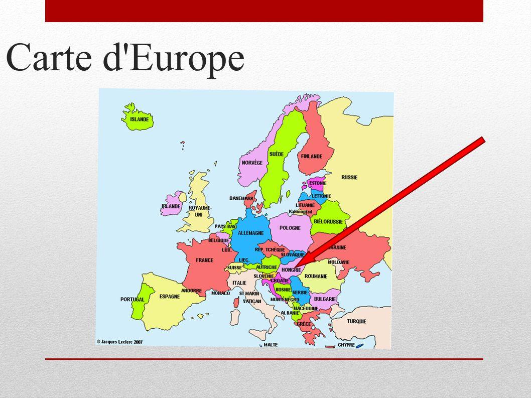 La Hongrie   Carte Europe