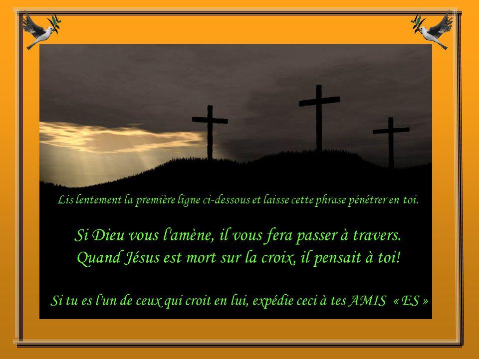 Jésus dit : « Moi non plus, je n'ai pas mérité ceci, mais je te pardonne.