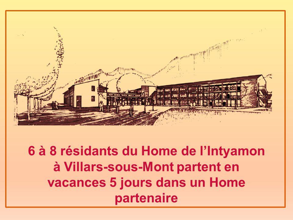 6 à 8 résidants du Home de l'Intyamon à Villars-sous-Mont partent en vacances 5 jours dans un Home partenaire