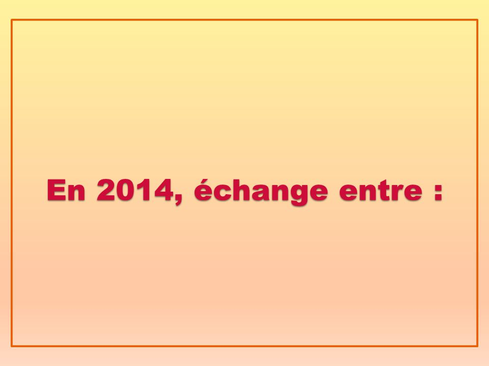 En 2014, échange entre :